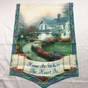 Thomas Kinkade Banner Home Is Where The Heart Is